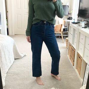 High Waist Straight Jeans sz 26/27